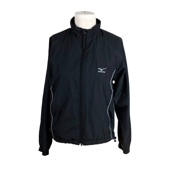 6d2ce77dc7cd4 Mizuno Black XS Full Zip Track Jacket Windbreaker